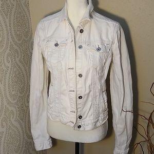 Polo Off White Jean Jacket Size Medium